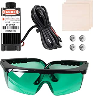 Sovol 3D 500mW Laser Module, 12-24V Engraving Laser Head Kits Magnetic Design with Goggles, Test Wooden Boards for SV01/ S...