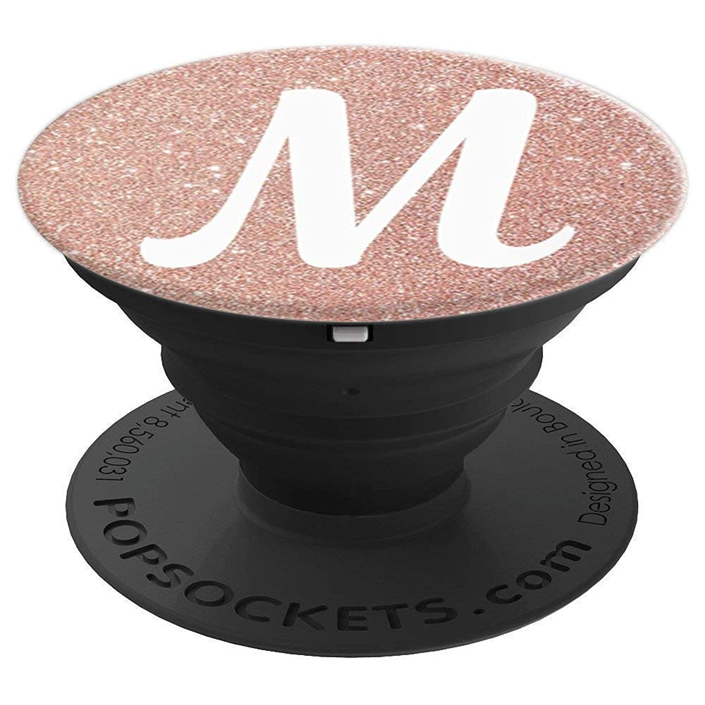 Pop Socket Cell Phones M Initial rose gold Capital Letter M - PopSockets Grip and Stand for Phones and Tablets