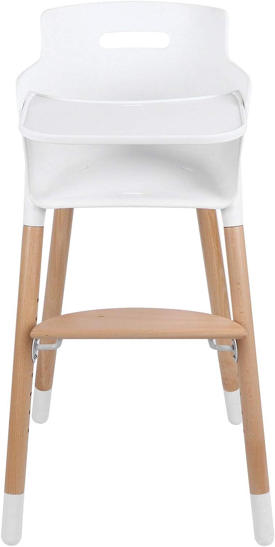 Alvinlite Silla Alta de Madera para bebé - Silla Infantil Moderna Silla de Comedor Ajustable en Altura Solución para sillas Altas, Silla de alimentación de fácil Cuidado