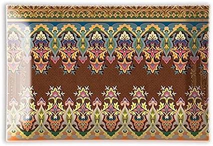 Michel Design Works Jabonera rectangular de cristal melodia de jard/ín