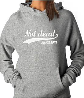 Tstars - Not Dead Since 1976 - Funny 40th Birthday Gift Idea Women Hoodie