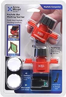 Keyhole Companion - Tool Set for Marking Keyhole Slot, Keyhole Hanger, Keyhole Hardware Fastener Locations on Mounting Surface - No Measuring Needed