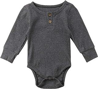 beb4090bc920 Amazon.com  Beige - Rompers   Footies   Rompers  Clothing