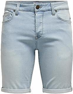 Only & Sons heren Denim korte broek ONSPLY LIFE BLUE JOG SHORTS PK8587 NOOS
