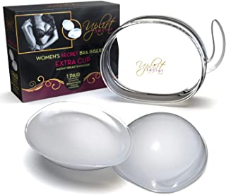 Silicone Bra Inserts - Clear Gel Push Up Breast Pads - Bra Padding Bust Enhancer