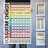 iVideosongs Guitar Chords Poster & Cheatsheet Bundle • 24x36 Poster + 3-Pack Cheatsheets for Chords, Scales & Triads • Plus, 150+ Video Tutorials