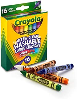 Crayola 52-3281 Large Washable Crayons Assorted Colors 16 Count (Pack of 2)