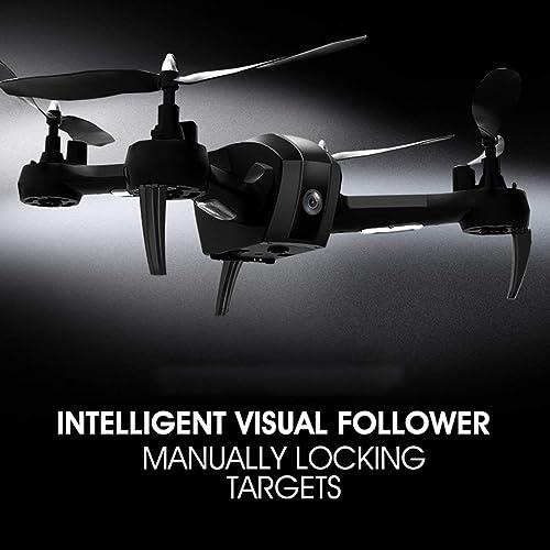 seguro de calidad JohnJohnsen 1080P 1080P 1080P WiFi FPV HD Camera SH7 RC Drone RC Quadrocopter Set Height Hovering Geature Selfie Intelligent Follow Target(negro)  de moda