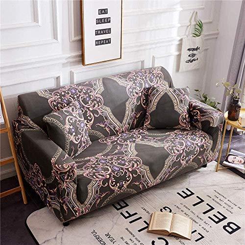 HFTYCC Fundas para sofá Fundas Elegantes Jacquard para decoración del hogar Juego de para sofá Antideslizante Extraíble Tela elástica Lavable 3plazas_Classic
