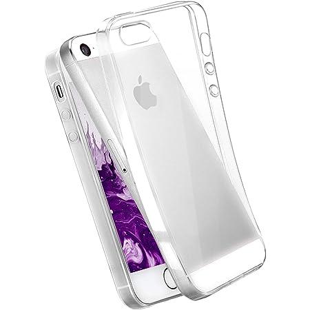 COVERbasics Cover compatibile con iPhone 5 5s SE 2016 (AIRGEL 0.3mm) Custodia Trasparente Slim in Silicone Ultra Sottile con Anti Ingiallimento ed ...