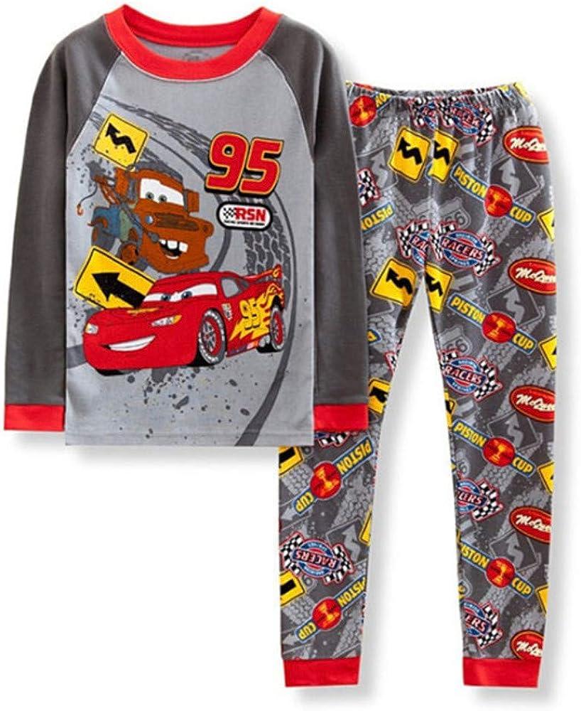 Boys Pajamas 2 Piece Cotton Clothes Long Kids Pjs Toddler Sleepwear Set