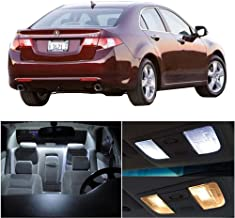SCITOO 12Pcs White Interior LED Light Package Kit Replacement Bulbs Fits for Acura TSX 2004-2008