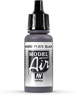 Vallejo Black Metal Paint, 17ml