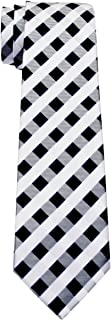 Retreez Classic Check Woven Boy's Tie - 8-10 years - Various Colors