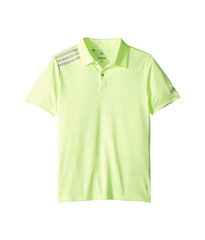 adidas Golf Kids  3 Tournament Polo (Little Kids/Big Kids) (Hi-Res Yellow) Boys Short Sleeve Knit