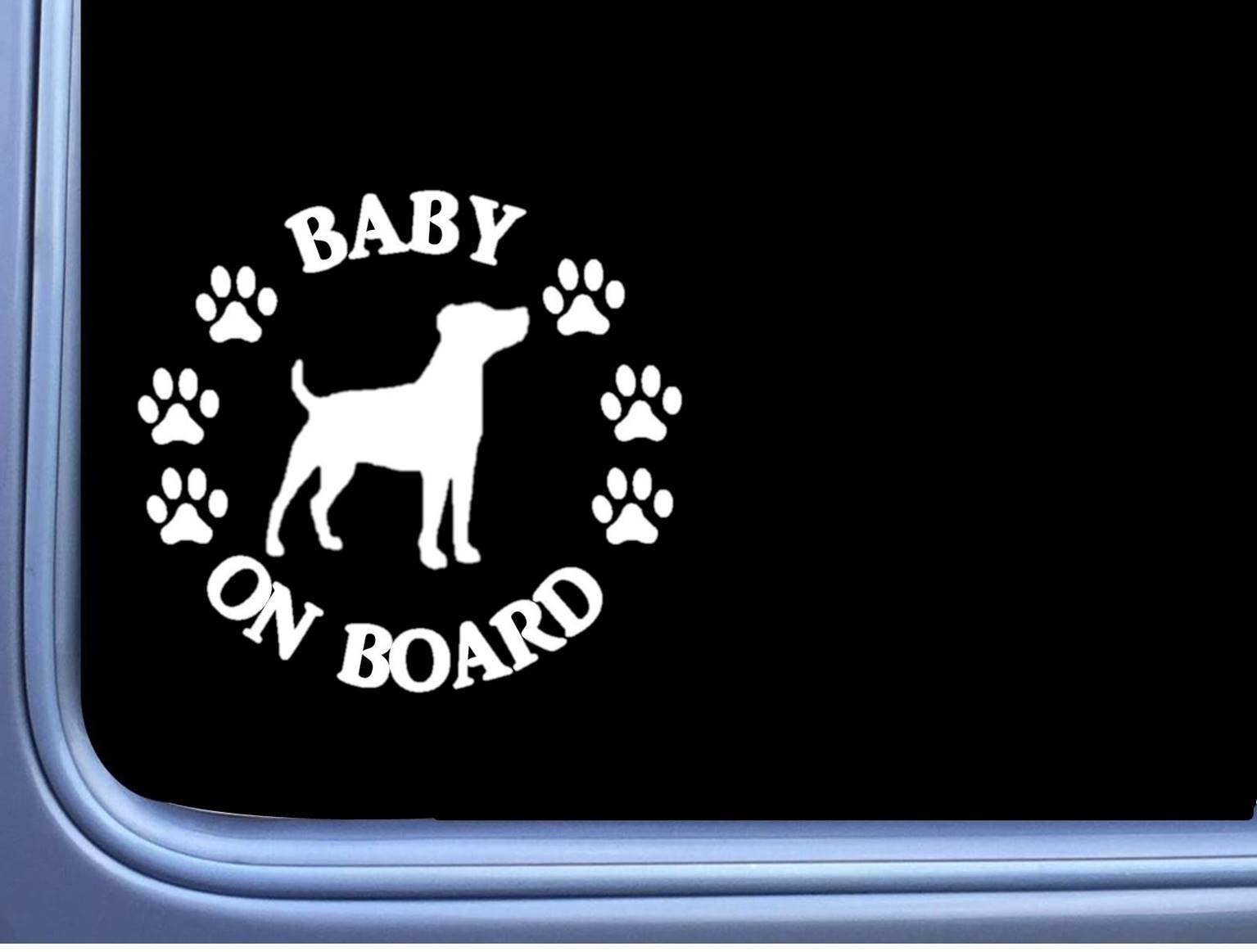 """Baby on Board Jack Russell L550 6/"""" Sticker dog decal"""
