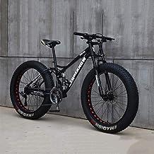 RLF LF Fat Tire Mens Mountainbike, MTB Fiets Mannen Vrouwen Student Variabele Snelheid Fiets, 24 Inch 7/21/24/27 Speed Bike