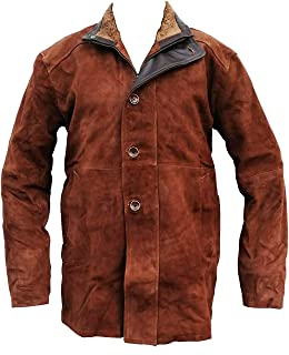 RF Leathers Longmire Robert Taylor Brown Suede Leather Jacket