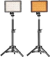 Neewer Photography 160 LED Studio Lighting Kit, including (2)CN-160 Dimmable Ultra High Power Panel Digital Camera DSLR Camcorder LED Video Light (2)32