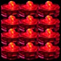 TDLTEK Waterproof Submersible Led Lights Tea Lights for Wedding, Party, Decoration (12 Pieces Red)