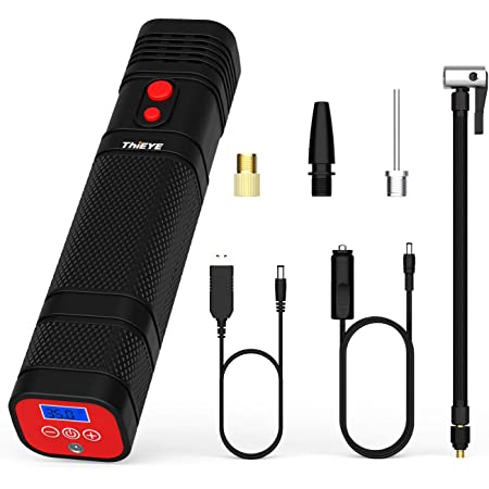 6000mAh Ultra High Capacity Rechargeable Compact Tire Pump Tire Inflator