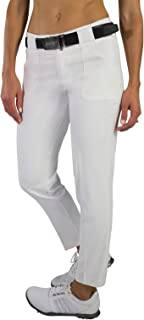 Belted Cropped Golf Pants - White