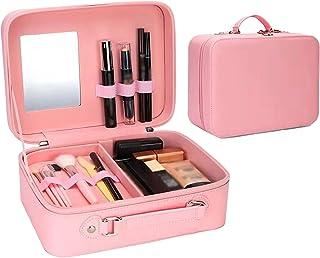 Make-upkoffer, draagbare cosmetische reistas, lederen multi-layer vrouwelijke cosmetische opbergdoos met grote capaciteit ...