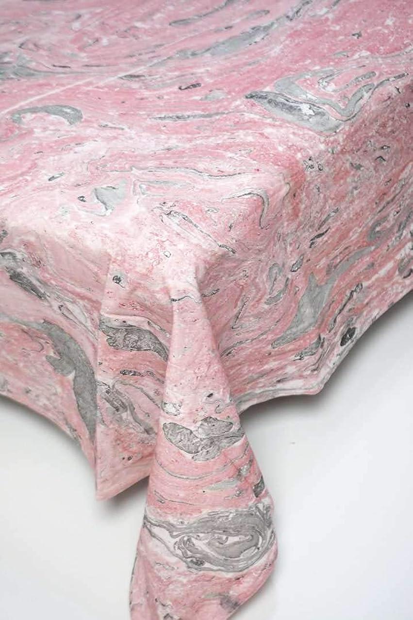 分配します超越するオーバーヘッドインド 手染め シングルベッドカバー マーブル柄 ピンク