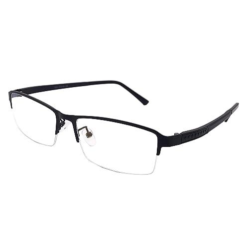 98494bc808db6 XYAS Metal Mens Glasses Frames Clear Lens Reading Business Glasses Square  Front Half Rim Full Rim