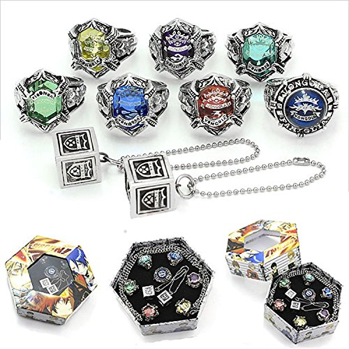 Katekyo Hitman Reborn Vongola Liberated Cosplay Ring Set Ver.1