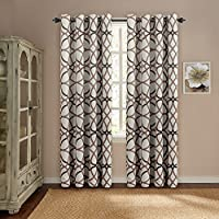 Thermal Insulated Blackout Window Drapes Curtain for Kitchen/Living Room/Bedroom