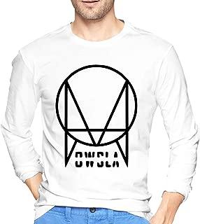 Black Skrillex Recess Owsla Mens T Shirt Crew Neck Long Sleeve Tee Tops White
