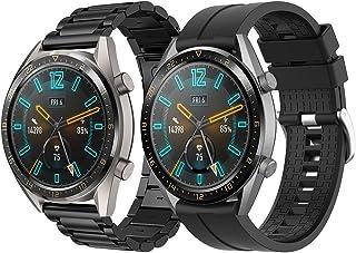 Supore Armband kompatibelt med Huawei Watch GT2 46 mm/Watch GT 46 mm/Watch GT Active/Watch 2 Pro/Honor Watch Magic/Galaxy ...
