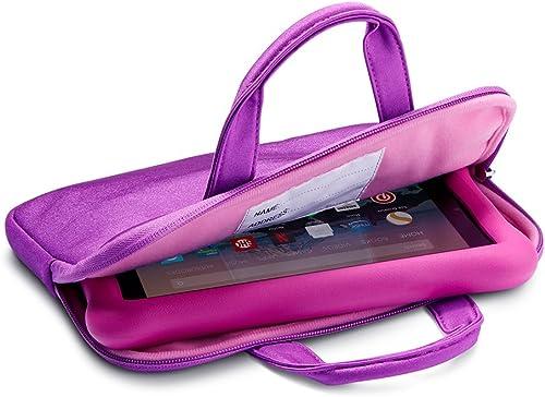 NuPro Zipper Sleeve for Fire 7 Kids Tablets, Purple/Pink