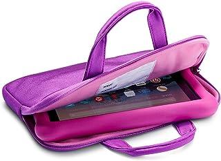 NuPro Funda con cremallera para tablet Fire 7 Kids Edition, morada/rosa