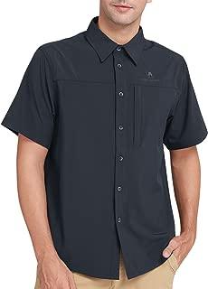 CAMEL CROWN Quick Dry Shirt Men Women Short Sleeve, UV Protection Fishing Shirts