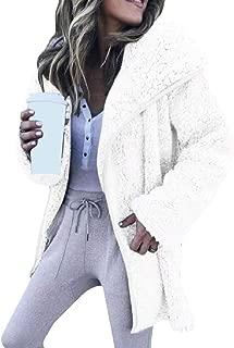 RkBaoye Womens Lapel Mid-Long Open-Front Oversize Plus Velvet Outwear Coat