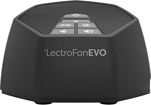 LectroFan Evo White Noise Sound Machine with 22 Unique Non-Looping Fan & White Noise Sounds & Sleep Timer