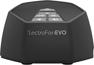 LectroFan Evo White Noise Sound Machine with 22 Unique Non-Looping Fan & Ocean and White Noise Sounds & Sleep Timer, Charcoal