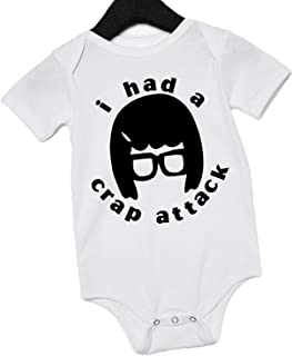 Bob's Burgers Shirt Funny Baby Onesie Tina Louise Belcher Crap Attack
