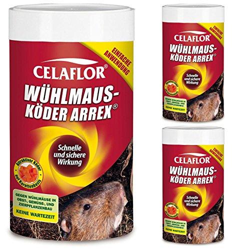 3 x 250g Celaflor Wühlmausköder Arrex