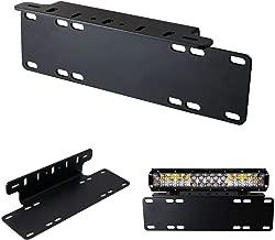iJDMTOY Heavy Duty Front Bumper License Plate Mount Bracket Holder For LED Light Bar, LED Work Lights, Off-Road LED Lights, etc