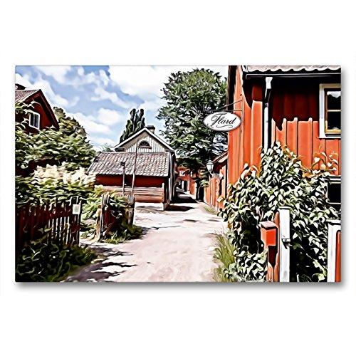 CALVENDO Premium Textil-Leinwand 90 x 60 cm Quer-Format Schwedische Idylle, Leinwanddruck von Sonja Teßen