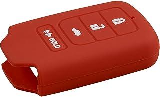 PhoneNatic Silikon Schlüssel Hülle kompatibel mit der Honda Crider 3 Tasten Fernbedienung in rot Funkschlüssel 3 Key