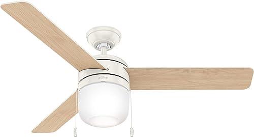 new arrival Hunter discount Fan Company 59403 Acumen Ceiling Fan, 52, online Fresh White online sale