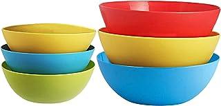 Kuber Industries Plastic Microwave Safe 6 Pieces Mixing Bowl Set- 500,1000 ML (Multi) - CTKTC34747