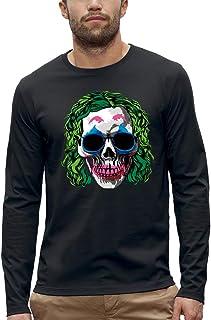 Koszulka z długim rękawem JOKER MAKEUP CZASZKA - PIXEL EVOLUTION - Mężczyzna