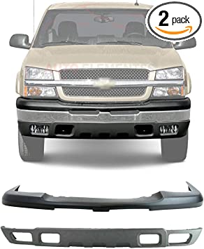 Amazon Com New Front Bumper Upper Cover Lower Valance Air Deflector Textured For 2003 2006 Chevrolet Silverado 1500 2002 2006 Avalanche Plastic Direct Replacement 15139805 10397999 Automotive