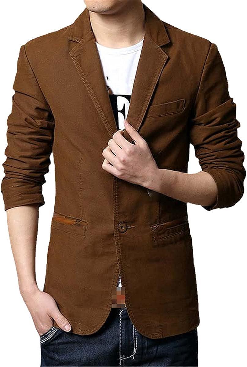 Spring and Autumn Men's Blazer Jacket Casual Slim Hanbok Denim Blazer