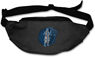 Fanny Pack For Women Men 4th Doctor Who Silhouette Tom Baker Tardis Waist Bag Pouch Travel Pocket Wallet Bum Bag For Running Cycling Hiking Workout